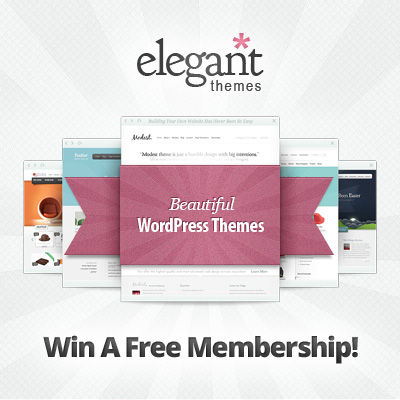 Giveaway : Win 3 Developer Accounts from Elegant Themes