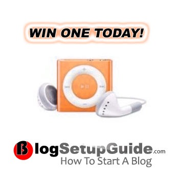 iPod Shuffle 2GB Orange Contest By Blog Setup Guide