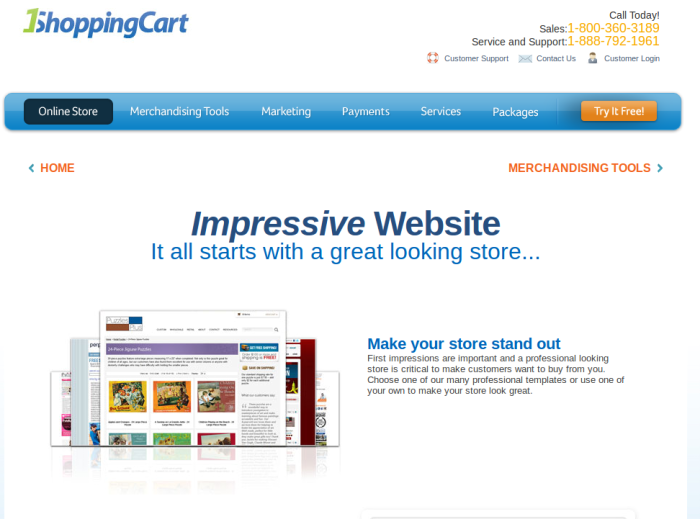 Review : eCommerce Website Builder by 1ShoppingCart