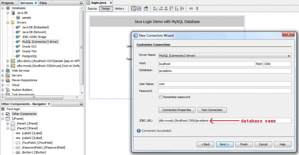 Connecting Java Application to MySQL Database in NetBeans