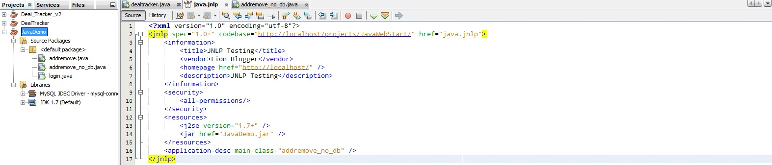 java web start application