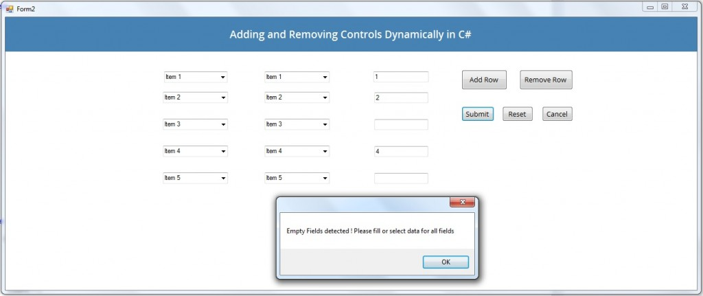 Add and Remove Controls Dynamically in C# .NET