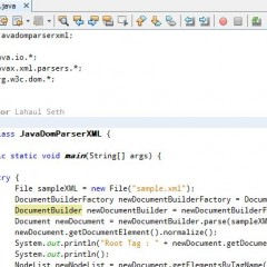 Parsing XML In Java Using Java DOM Parser