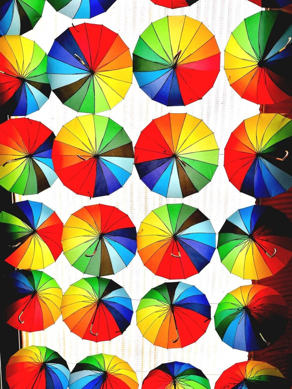 Umbrellas and the color wheel